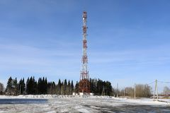 View of tower network cellular Stock Images