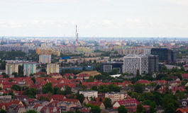 View from tower on residential areas in Gdansk Royalty Free Stock Photos