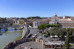 View from the tower of Saint Angelo on Vatican Royalty Free Stock Photos