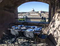 View from the tower of Saint Angelo on Vatican Stock Photo