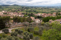 View from the tower of San Giminiano fortress Royalty Free Stock Photo