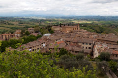 View from the tower of San Gimignano fortress Royalty Free Stock Image