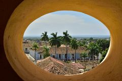 View from a Tower of St. Francis of Assisi Convent and Church. Trinidad, Cuba Royalty Free Stock Image