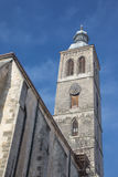 View on a tower of St. James church in Kutna Hora. View on a tower of St. James church in historical centre of town Kutna Hora in the Czech republic Stock Images