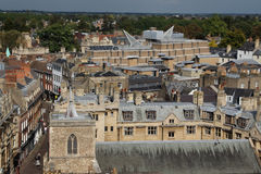 View from tower of St Mary the Great, Cambridge, England Stock Images