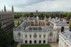 View from tower of St Mary the Great, Cambridge, England Stock Photography