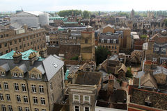 View from tower of St Mary the Great, Cambridge, England. The city of Cambridge is a university city and the county town of Cambridgeshire, England Stock Photo