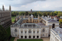 View from tower of St Mary the Great, Cambridge, England. The city of Cambridge is a university city and the county town of Cambridgeshire, England Stock Photography