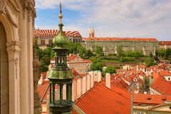 View from Tower St. Nicholas Church, Lesser Town, Prague, Czech Republic Royalty Free Stock Images