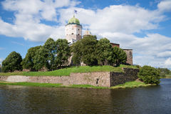 View of the tower of St. Olaf on a summer day. Vyborg Castle Royalty Free Stock Photography