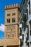 View of the Tower of Teruel Cathedral. Aragon, Spain Royalty Free Stock Image