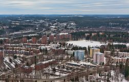 View from the tower to the northern city Stock Photography