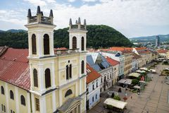 Banska Bystrica, Slovakia. View from the tower on the Town Banska Bystrica, Slovakia Royalty Free Stock Image