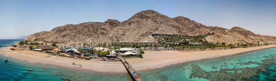View from the tower of underwater observatory near Eilat in Israel royalty free stock image