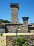 A view of a tower in the village  Civitella in Italy. Stock Image