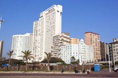 View of Towering Hotels on Durban Beachfront royalty free stock photos