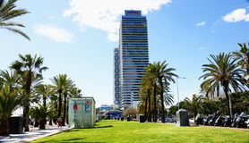 View of the towers at the Olympic Port of Barcelona Royalty Free Stock Photography