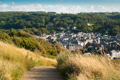 View of town Étretat, France Stock Photography