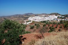 View of town, Almogia, Spain. Stock Photography
