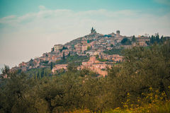 View of the town of Assisi. A view of Assisi town Royalty Free Stock Photography