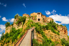 View of the town Bagnoregio, Tuscany royalty free stock images