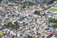 View the town of Banos in Ecuador Royalty Free Stock Images