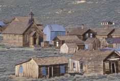 View of town of Bodie. California, Ghost town Royalty Free Stock Photos