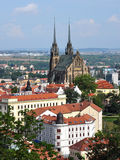 View the town of Brno, Czech Republic, Europe Royalty Free Stock Photo