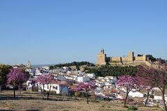View of the town and castle, Antequera, Spain. Royalty Free Stock Images