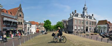 View of town centre of Edam with Town Hall, Netherlands Stock Photos