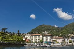 View at town Cernobbio on Como Lake in Italy Stock Photo