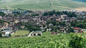 View of the town of Chablis. Wine-growing region in central France Northern Burgundy stock photography