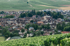 View of the town of Chablis. Wine-growing region in central France Northern Burgundy stock image