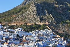 View of the town Chefchaouen Royalty Free Stock Images