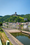 View on town Cochem and castle under town. Germany Stock Photos