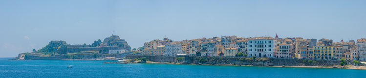 View on the town of Corfu Stock Image