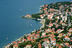 View on town Dobrota in Bay of Kotor, Montenegro Royalty Free Stock Images