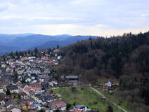 View of the town Ebersteinburg, Baden-Wurttemberg, Germany, seen from the castle ruin above Royalty Free Stock Photography
