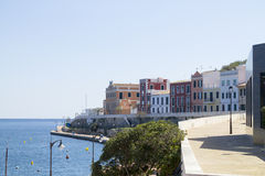View of the town of Es Castell Royalty Free Stock Photography