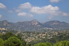 View of a town, French Reviera, France. View of a town at day time, French Reviera, France Royalty Free Stock Photography