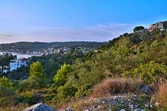 Greece,island Paxos-view on  the town Gaios Stock Images