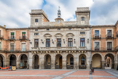 View at the Town Hall of Avila royalty free stock photos