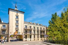 View at the Town hall building of Aranda de Duero in Spain royalty free stock image
