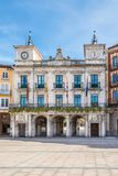 View at the Town hall of Burgos in Spain stock images