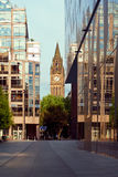 View on the Town Hall Tower and Deansgate Stock Photos