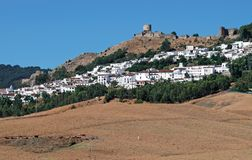 View of town, Jimena de la Frontera. Stock Photography