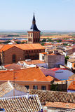 View of town in La Mancha Stock Photo