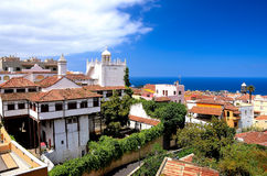 View the town of La Orotava Stock Image
