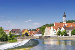 View town Landsberg am Lech Royalty Free Stock Photography
