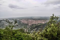 View of the town of Litochoro, Greece. The View of the town of Litochoro, Greece Stock Photography